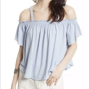 NWT Free People Off Shoulder Top In Sky Blue